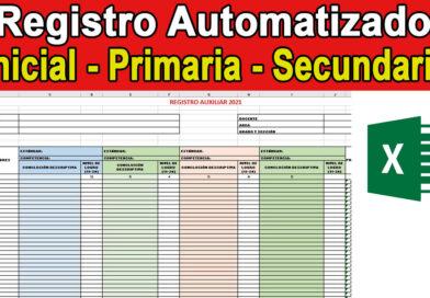 Registro Automatizado Inicial Primaria Secundaria