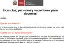 Licencias, PERMISOS y vacaciones para DOCENTES 2021