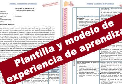 Plantilla y modelo de una experiencia de aprendizaje